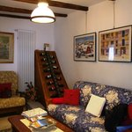 Living Area with selection of wines