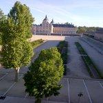 vista dalla camera sul Palazzo Real