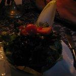 A salada perfeitamente temperada.