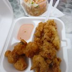 Fried Conch, conch fritters and conch salad...YUM!