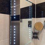 Bathroom with fancy lights :)