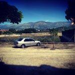 Vistas desde la puerta del apartamento rural