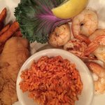 Flounder, shrimp & Savannah red rice
