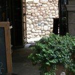 Front door of hotel