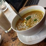Soup of the day--Leeks and Curry
