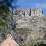 Blick vom Pool auf den Tafelberg