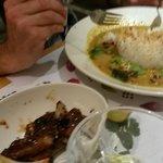 Chicken Raisukaree and pork ribs