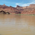 Enjoying the quiet Colorado River abord the jet boat