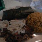pork, rice and peas
