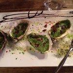 Huîtres gratinées.