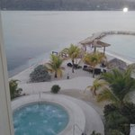 Overlooking poolside hot tub and Montego Bay