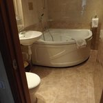 Nice jetted tub - no shower!