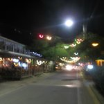 Esperanza's main strip at night.