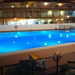 Veiw of main pool by night