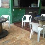 Mesas na área externa