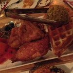 Chicken n 'watermelon n 'waffles