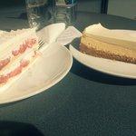 strawberry cake and cheese cake