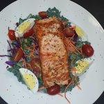 Salmon kale salad