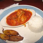 white rice and creole shrimp