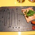 piatto con foie gras
