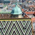 Detail of Stephandom's tiled roof.
