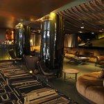 Swanky hotel lounge
