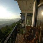 на балконе утром