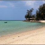 вид с пляжа отеля