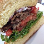 grilled lamb sandwich