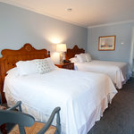 Two Queen Guestrooms in the Stonington House feature newly renovated bathrooms.