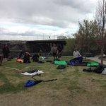 daring young para-sailors at the Snake River Canyon in Twin Falls, Idaho