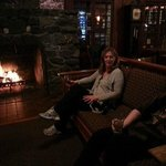 Wood Burning Fireplace in main Lodge
