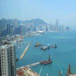 View of Hong Kong from Club Floor Lounge at check-in