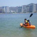 Actividad de Kayak en la playa