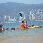 La playa muy bajita, ideal para niños