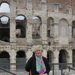 Kim at the Colosseum