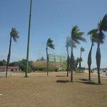 Vista da praia em frente Resort