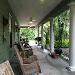 Front Porch with rocking chairs.