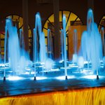 Water fountains show