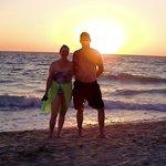 The sun sets & beach is beautiful !