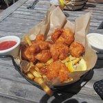 Prawns and fries