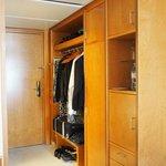 Good closet space with mini bar and safe