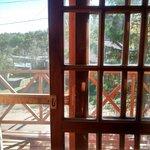 el balcon aterrazado de la habitacion