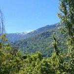 The snow capped peaks of Pico de Veleta