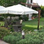 giardino per colazione e relax