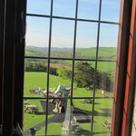 Looking across the garden to the countryside from Room 2