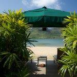 Wonderful beach cabana at the Marriott Resort