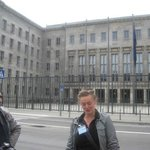 Caroline outside the Nazi Air Ministry.
