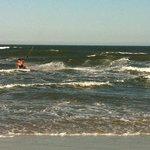 Praia - Meu marido velejando