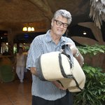 Owner Eddie Ryan hired a minstrel to play music and lead guests to the wedding coconut grove